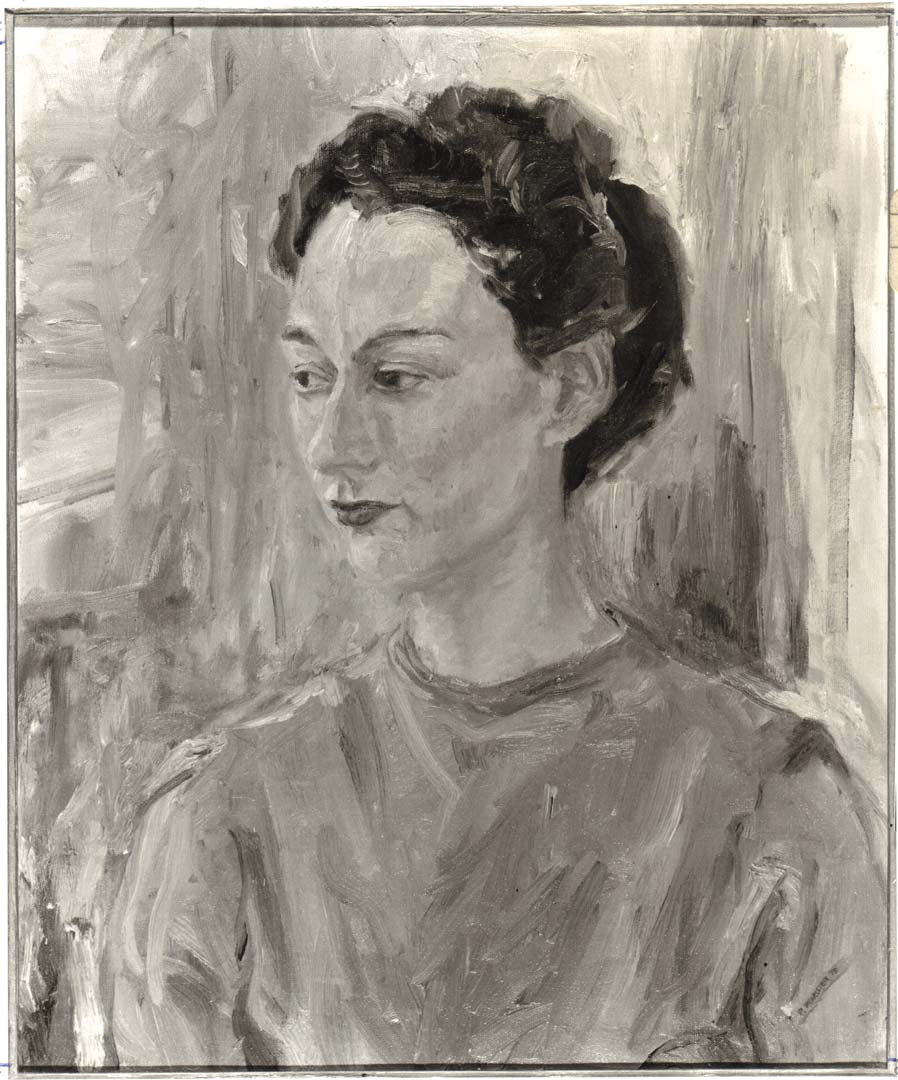 "1955 Portrait of Pauline Oil on canvas 24"" x 20"""