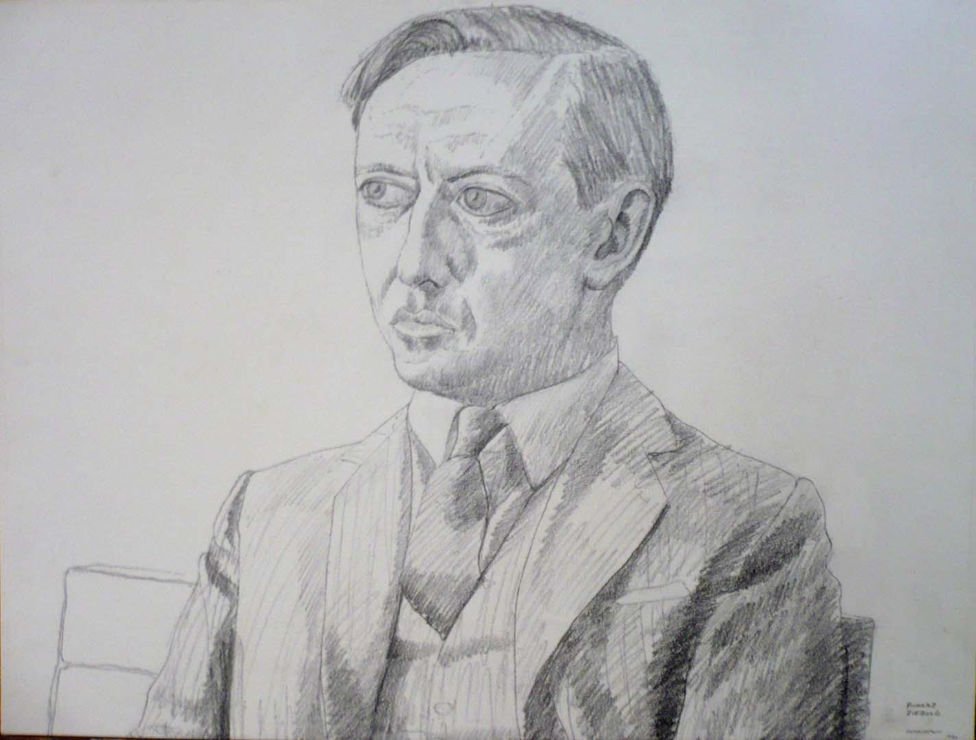 "1966 Richard Diebold Pencil 18"" x 24"""