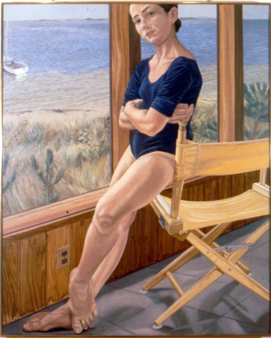 "1974 Portrait of Ellen on Fire Island Oil 60"" x 48"""