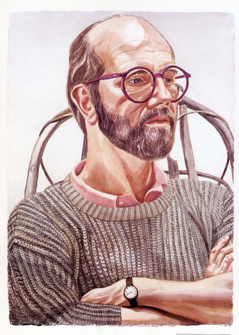 1986 Portrait of Chuck Close Watercolor on paper 42 x 30
