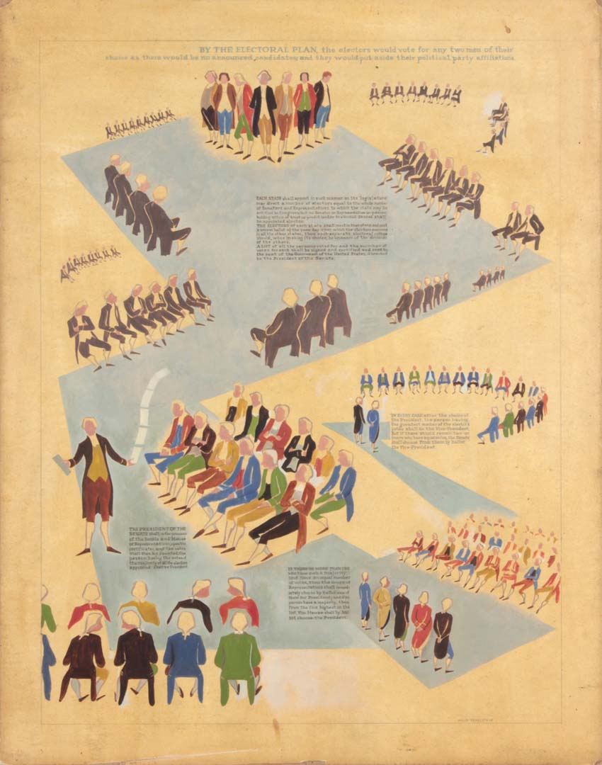 "1949 NT (Framers of the Constitution 3) Casein on Paper 23.5625"" x 18.5625"""