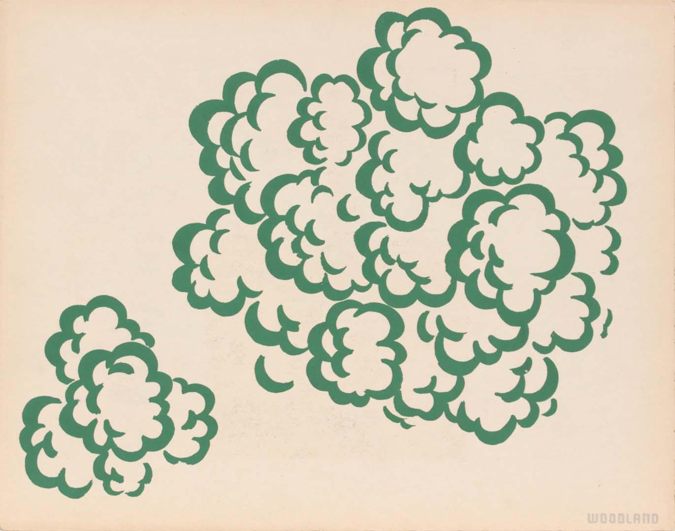 "1944 Image 63 (Woodland) Silkscreen 11"" x 14"""