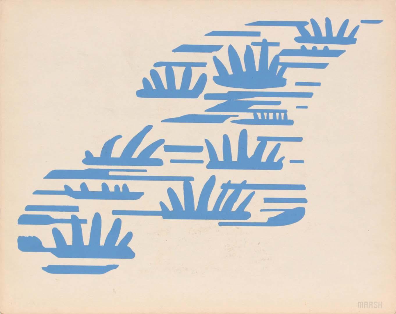 "1944 Image 66 (Front Marsh) Silkscreen 11"" x 14"""