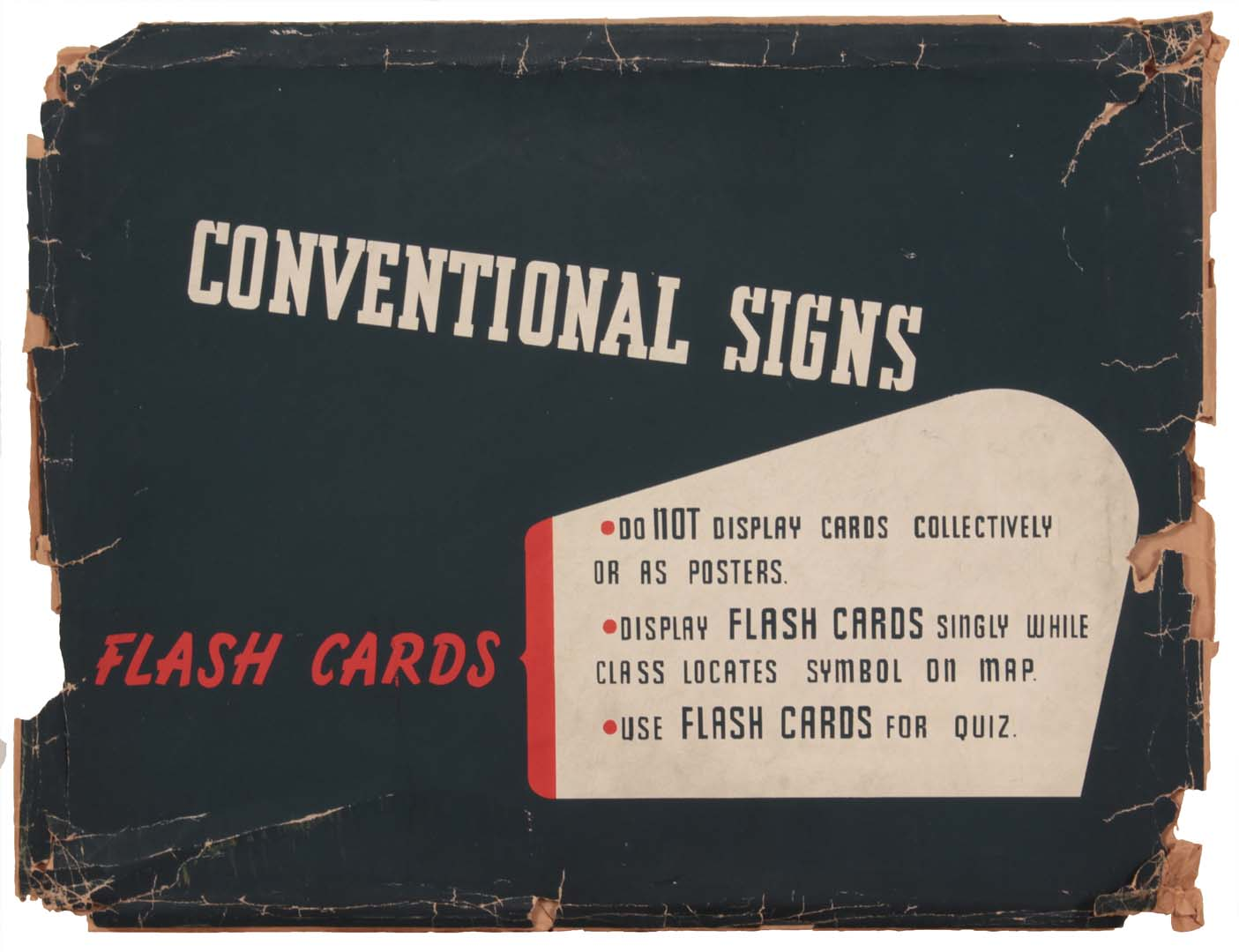 1944 Map Symbols Visual Aids Unit Envelope Silkscreen 12 x 15.50