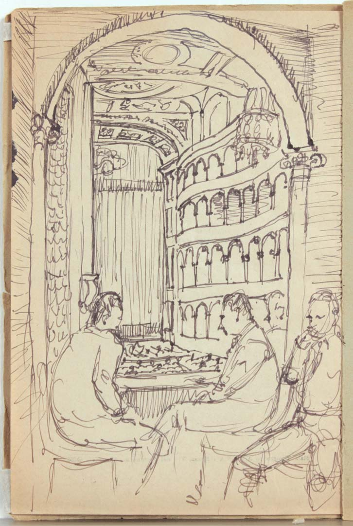 1944 Rome Italy XVI Teatro Reale Dello'pera Program Pen and Ink on Paper 8.125 x 5.50