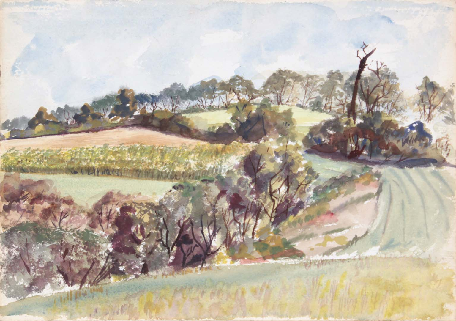 "1946 Pennsylvania Watercolor 10"" x 14"""
