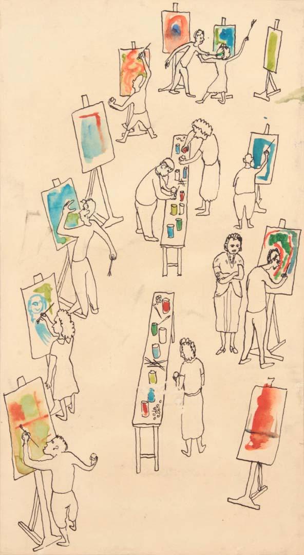 1948 Saturday Art Class at Carnegie Pen