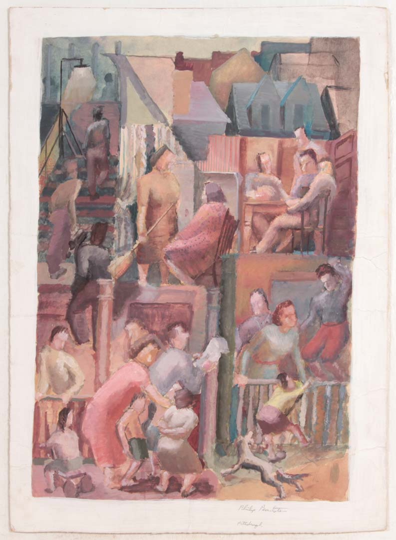 1949 Greenfield Hazelwood (Pittsburgh Scenes Finished) Casein on Paper 15.75 x 11.375