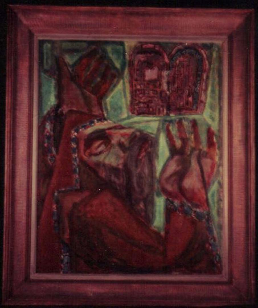 """1948 Moses Casein on board 30"""" x 25"""""""