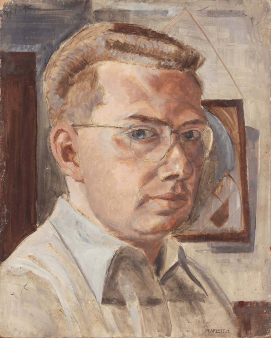 "1948 Self Portrait Casein on Board 20"" x 16"""