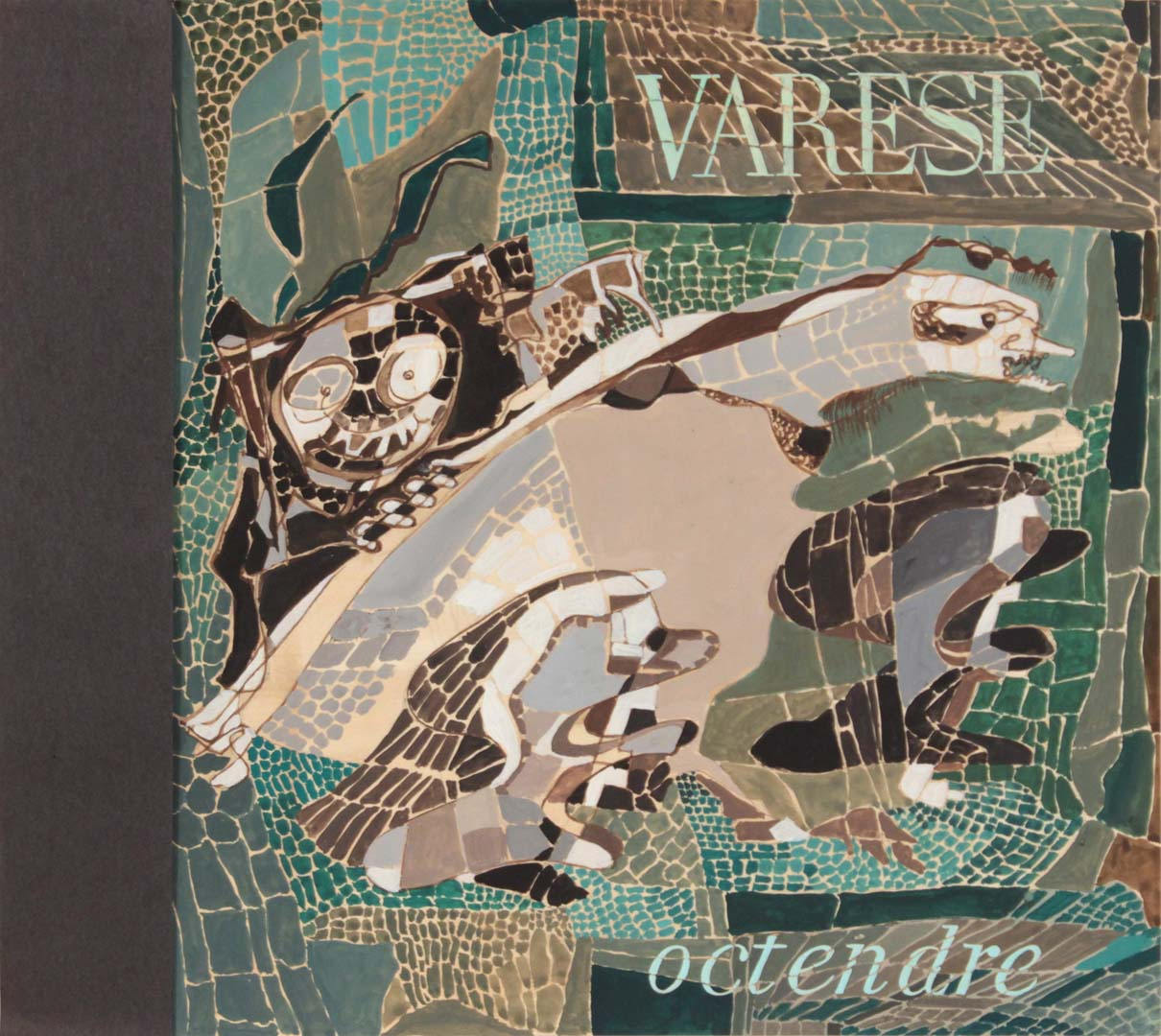 "1949 Varese Octendre (or Themes from Alban Berg) Tempera on Paper 12.50"" x 14"""