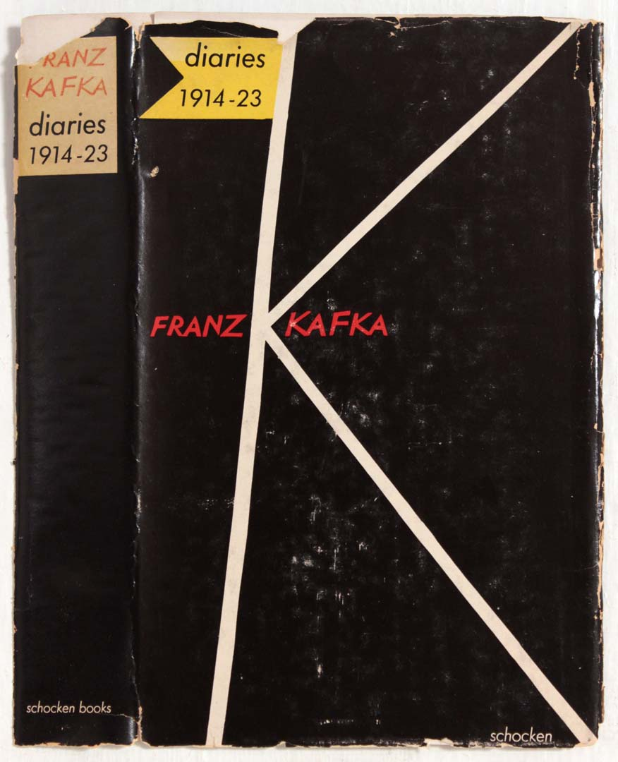 "1959 Diaries Franz Kafka Book Cover 8.25"" x 4.50"""