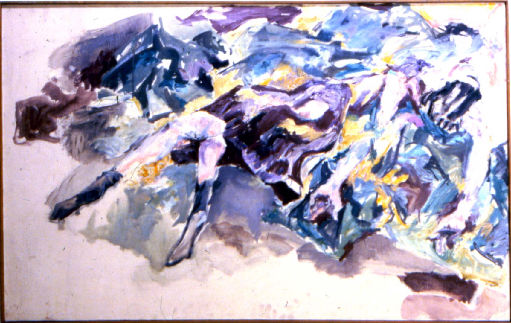 "1952 Burning Girl Oil on Canvas 40"" x 48"""