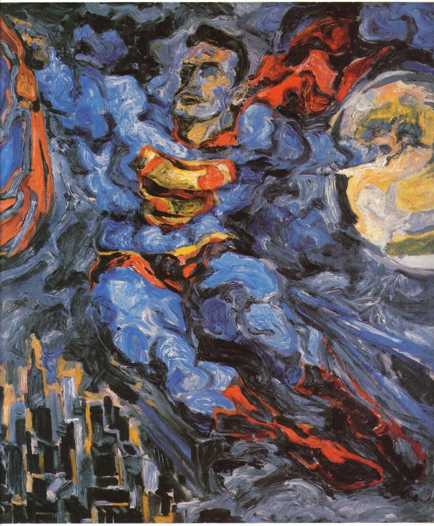 "1952 Superman Oil on Canvas 40"" x 36"""