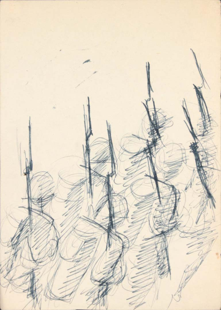 "1949 NT Pen and Ink on Paper 6.75"" x 4.8125"""