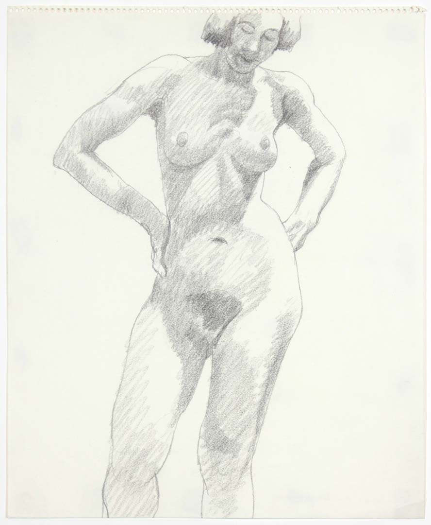 "1969 Standing Female Pencil on Paper 17"" x 14"""