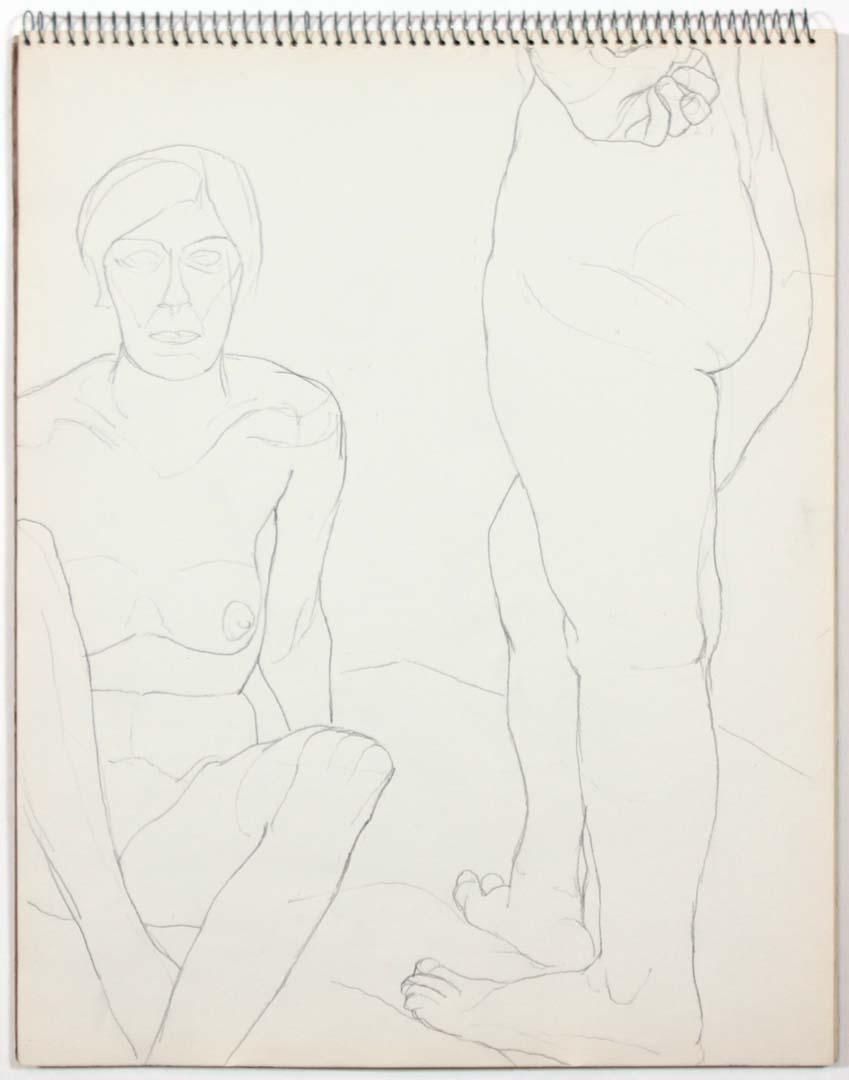 "1961 Untitled Graphite 14"" x 11"""