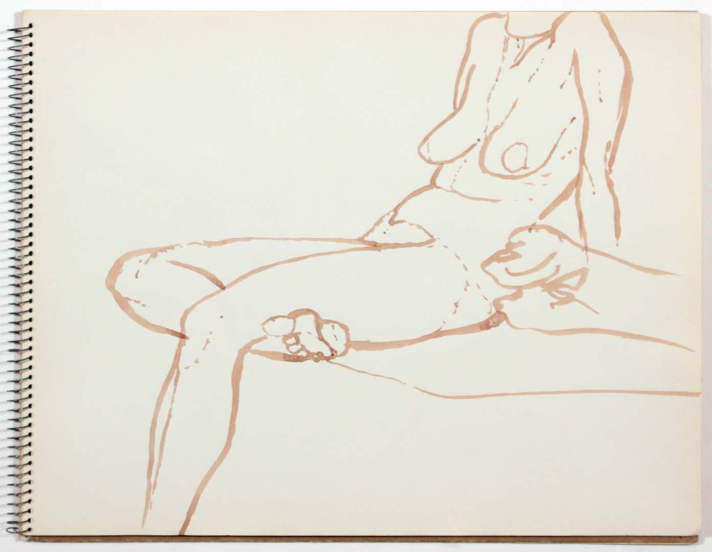 """1961 Untitled Wash 11"""" x 14"""""""