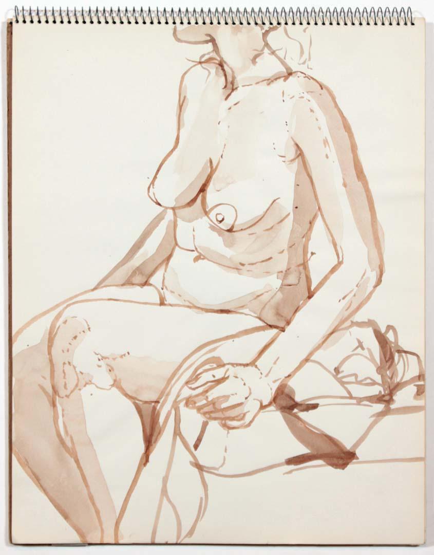"""1961 Untitled Wash 14"""" x 11"""""""