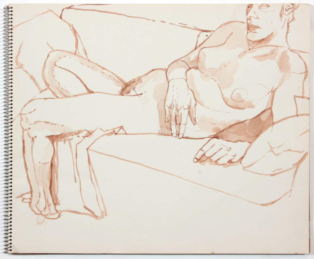 """1961 Untitled Wash 14"""" x 17"""""""
