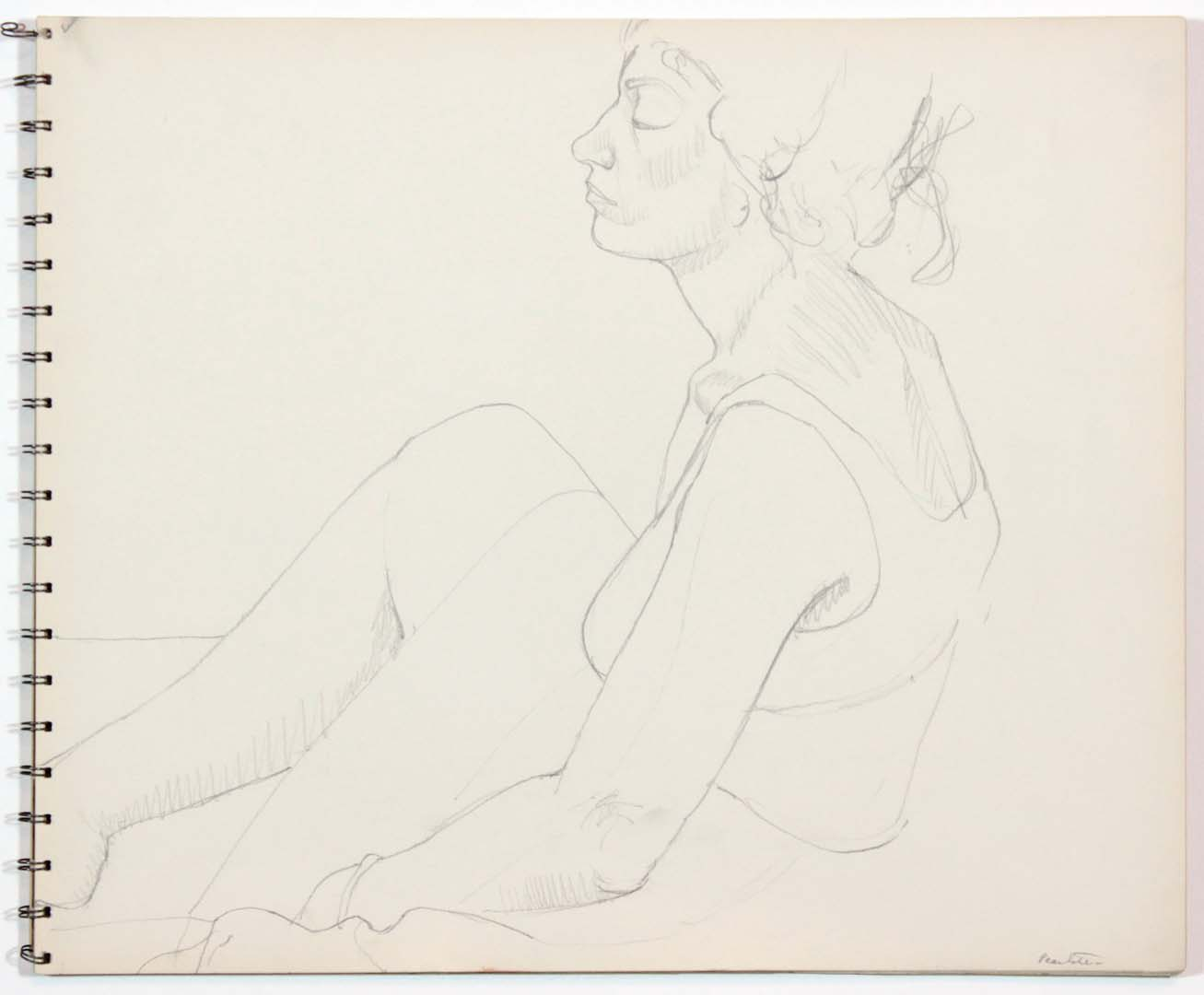 "1962 Untitled Graphite 13.875"" x 16.75"""