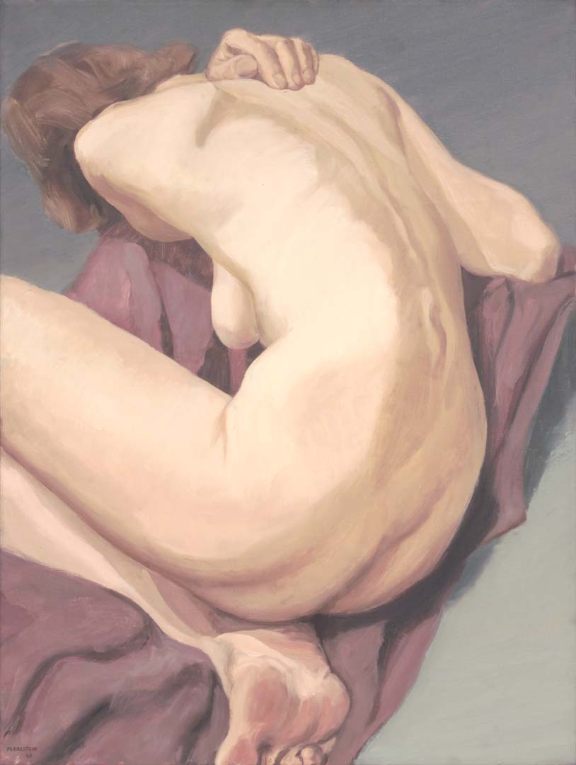 1963 Erica Reclining on Floor Oil on Canvas 24 x 18