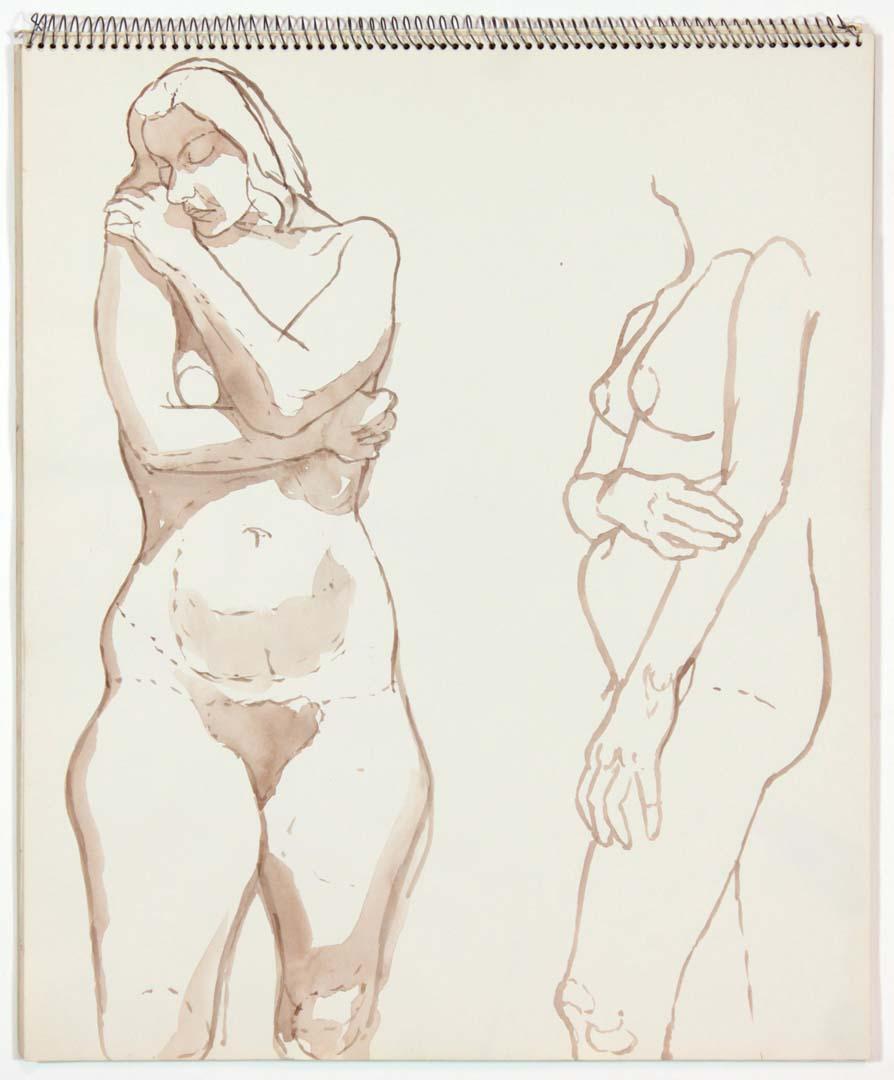 """1963 Untitled Wash 17"""" x 14"""""""