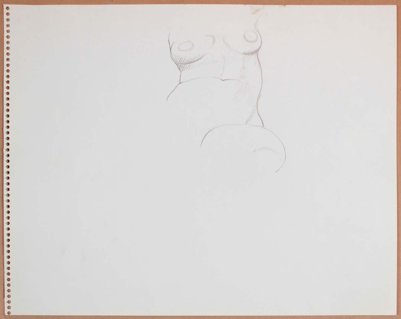 1965 Female Model (Partial) Graphite 13.75 x 17