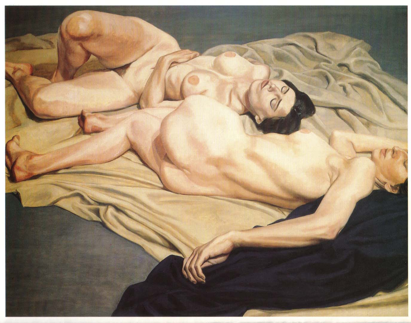 1964 Two Models Lying on the Floor Oil on Canvas 60 x 72