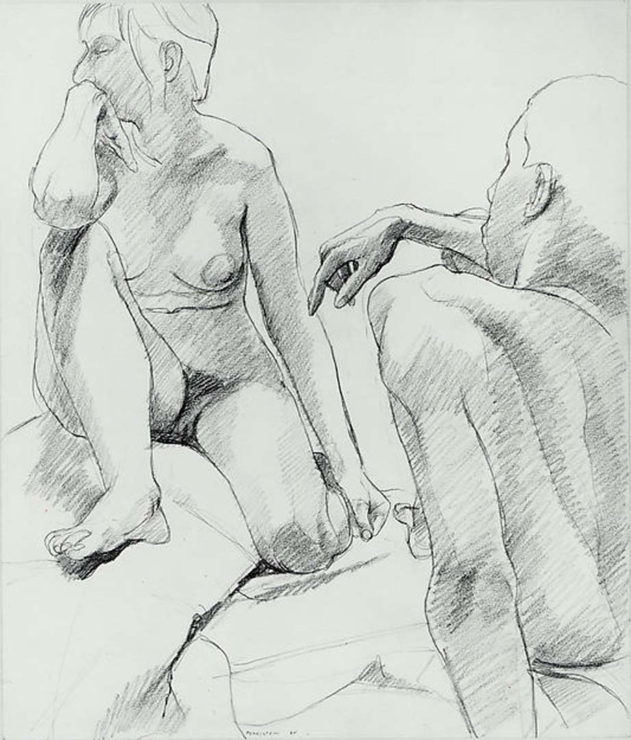 "1964 Untitled Graphite on Paper 16.75"" x 14"""