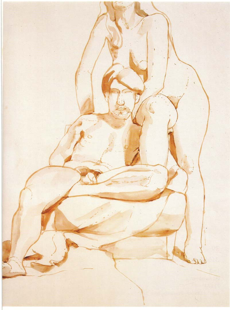1965 Seated Male