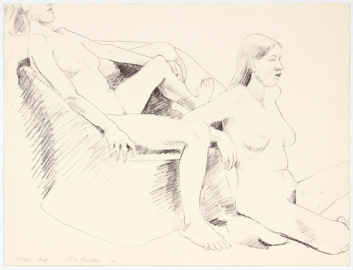 1968 NT Lithograph on Paper 15.75 x 20.75