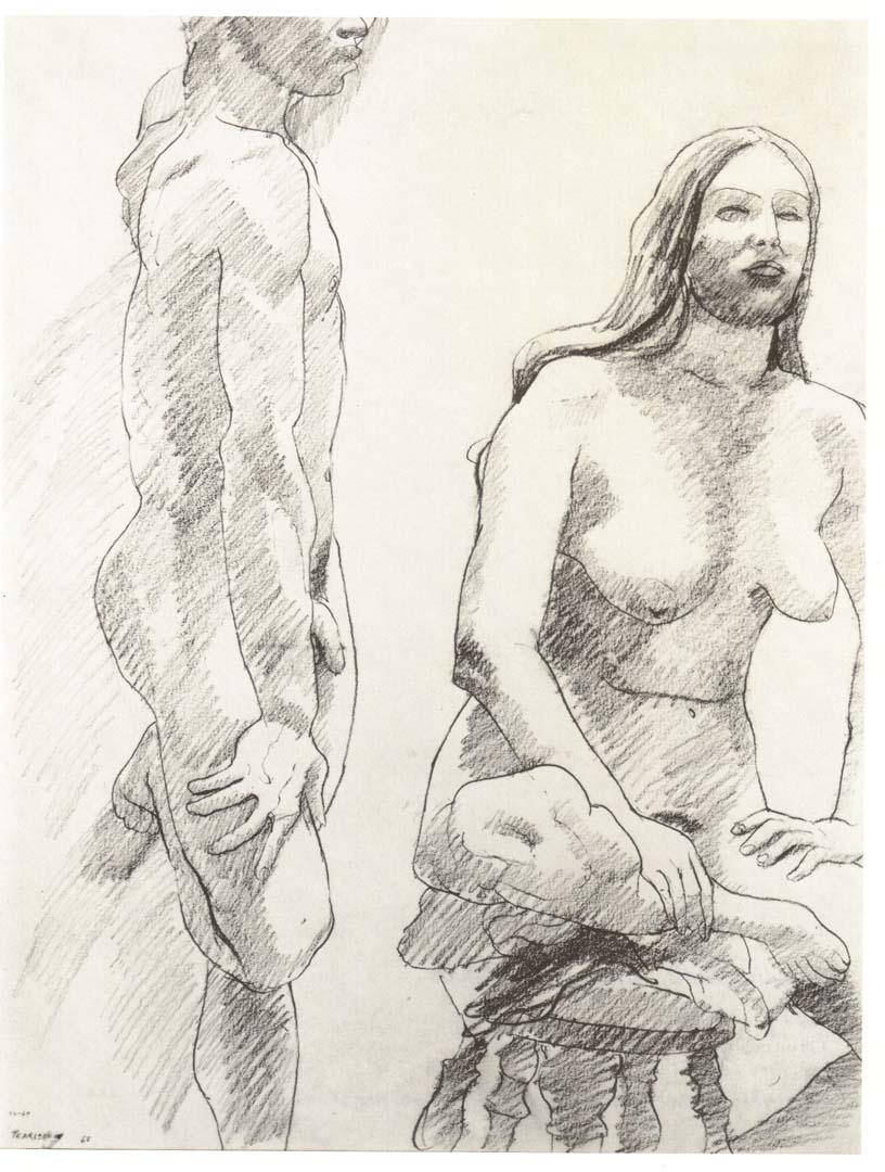 1968 Untitled Pencil on Paper 24 x 18