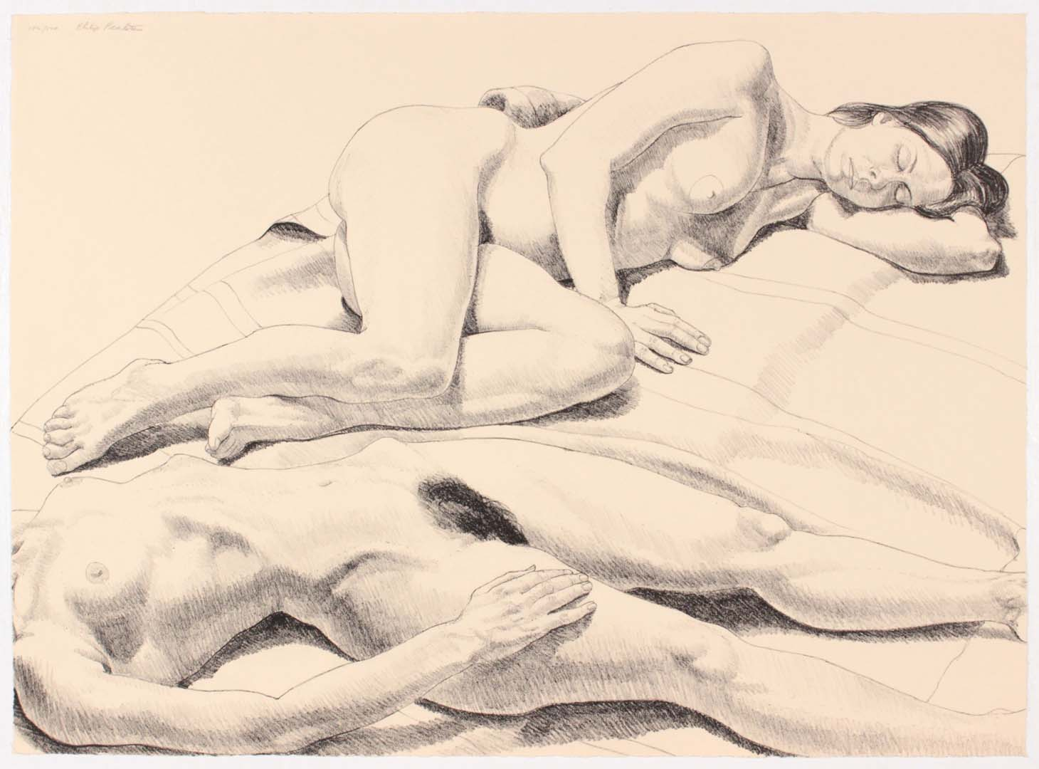 1971 Two Reclining Nudes Lithograph on Paper 22.0625 x 30.125