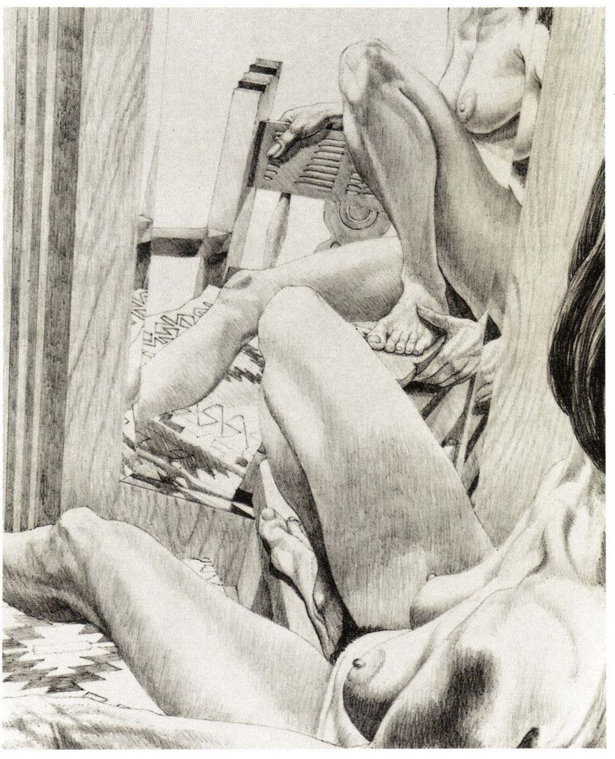 """1983 Fiesta Nude (state II) Lithograph on Paper 25.25"""" x 20.5"""""""