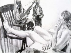 "1992 Model with Marionettes Pencil 30"" x 40"""
