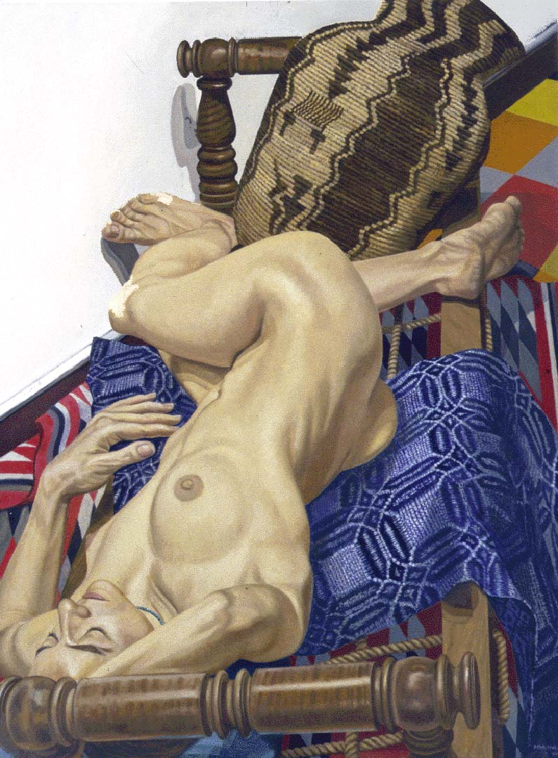 1994 Model with Apache Basket Oil on Canvas 48 x 36