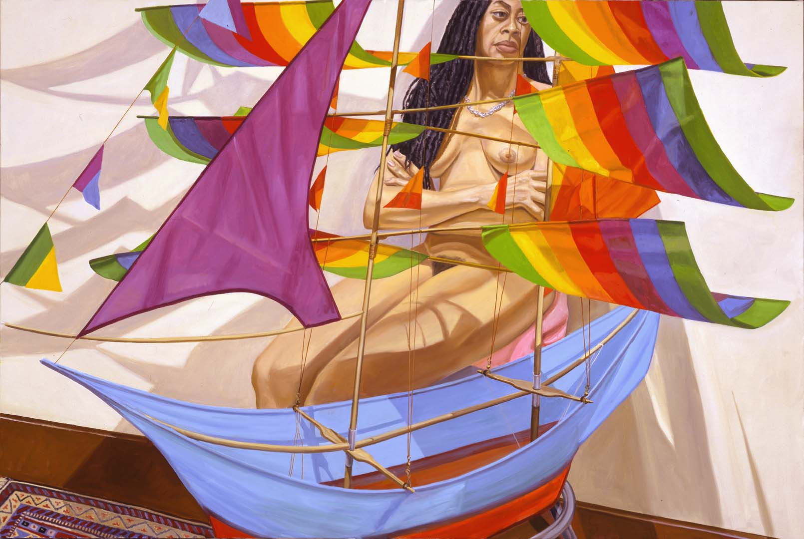 2004 Model and Chinese Kite Oil on Canvas 48 x 72