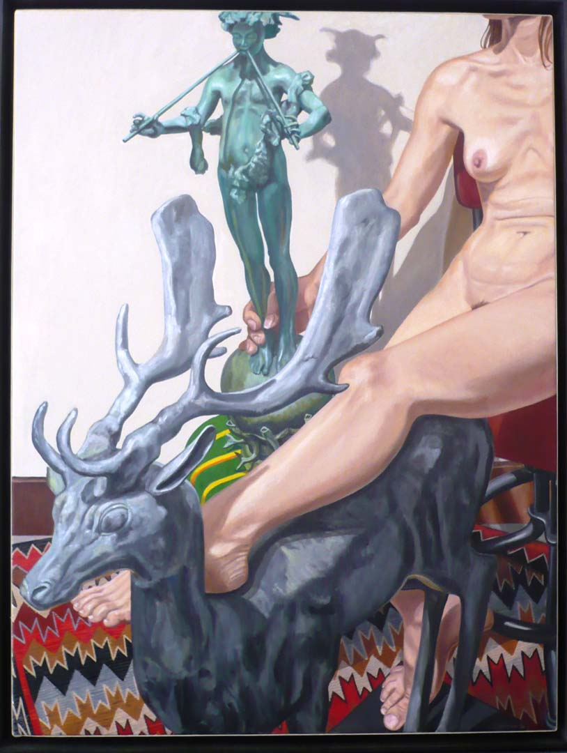 2009 Nude with Lead Stag and Universal Pan Oil on Canvas