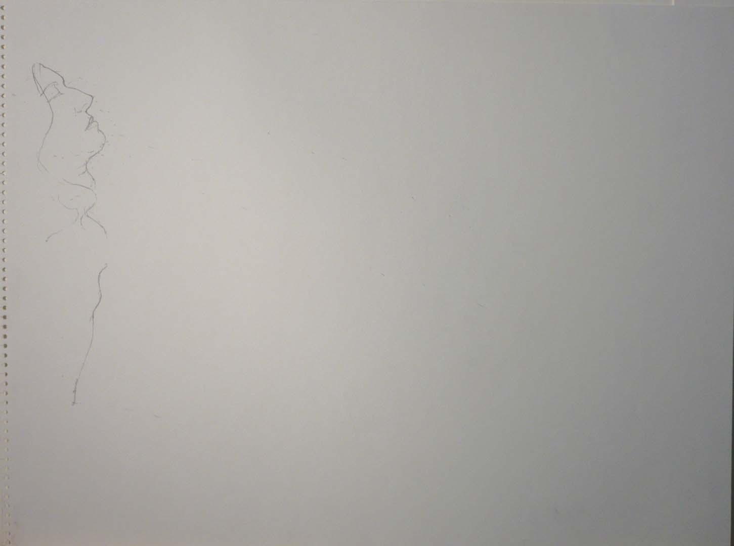 """Female Profile Pencil 18"""" x 24"""""""