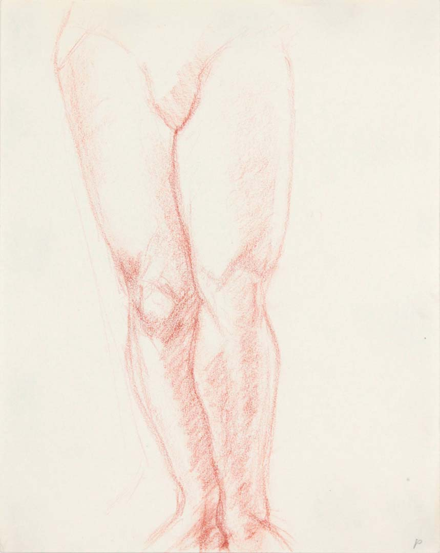 "Legs of Female Standing Red Pencil 11"" x 8.5"""
