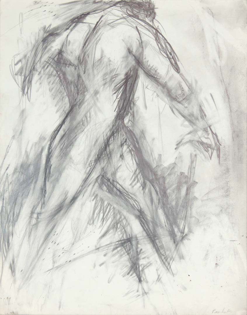 Male Model Taking a Step Pencil 14 x 10.875