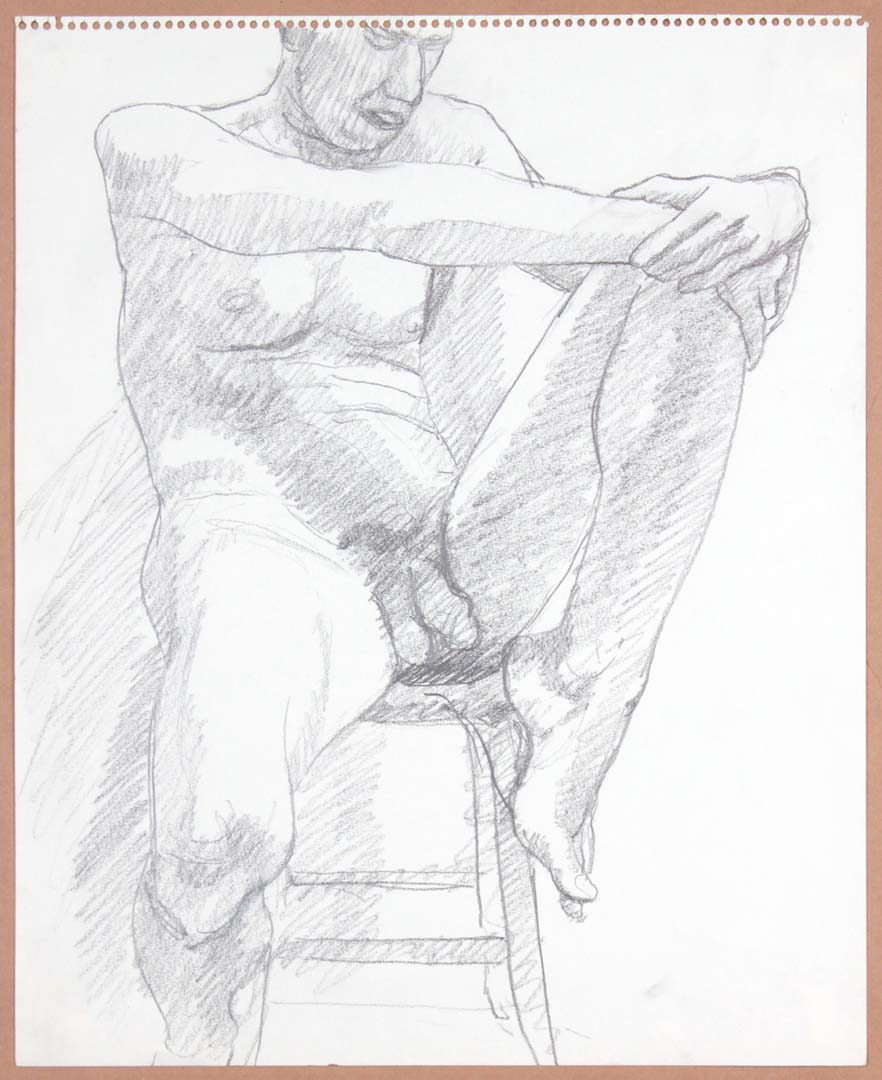 Male Nude on Stool