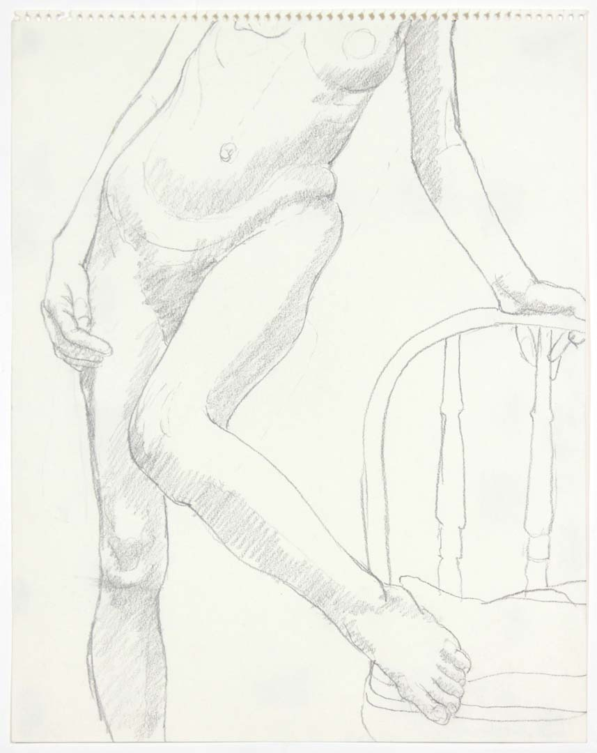 Model with Chair Pencil 14 x 11