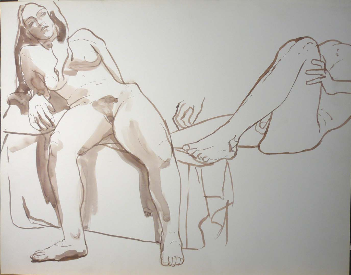 Seated Female Model
