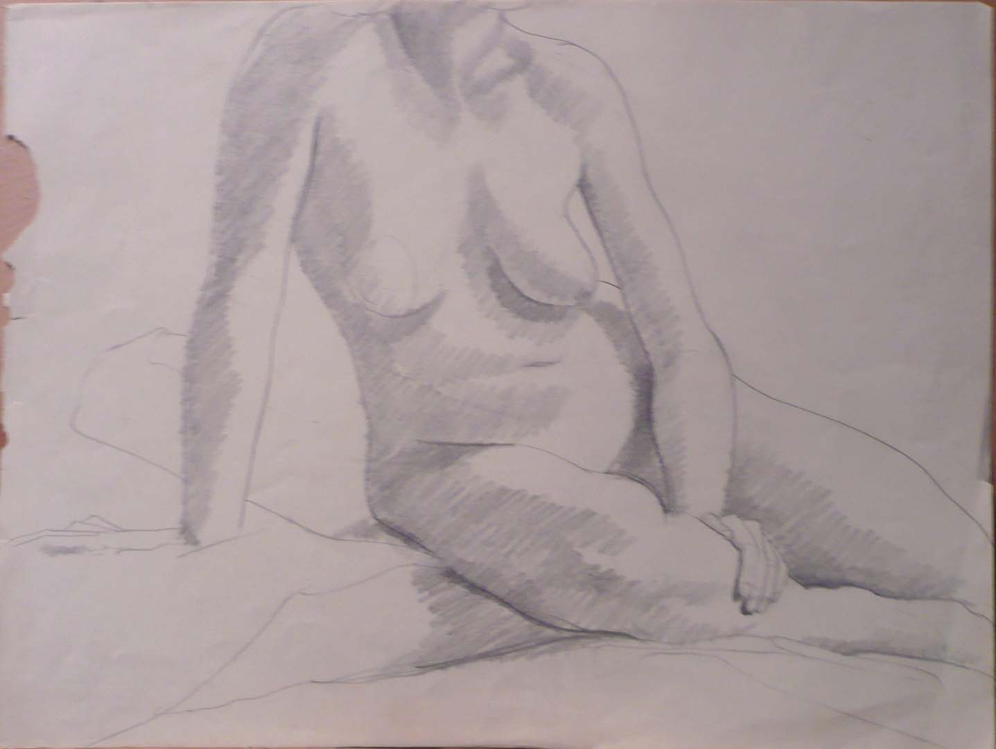 Seated Nude Pencil 16.25 x 21.75