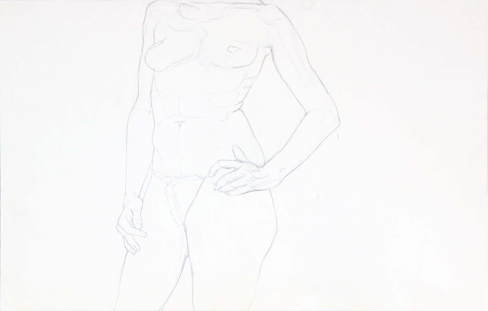 Standing Female Graphite 14 x 22