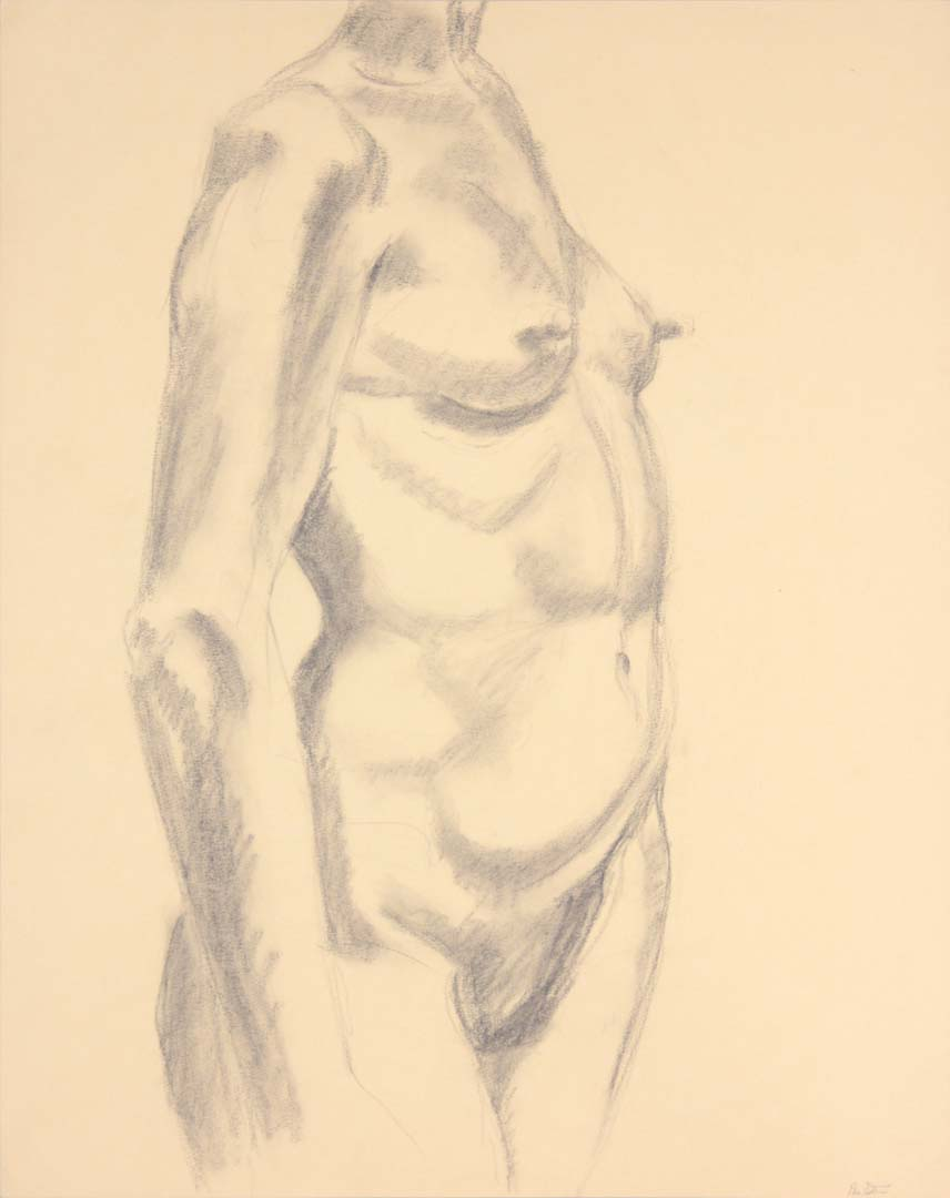 "Standing Female Nude Graphite 24"" x 19"""