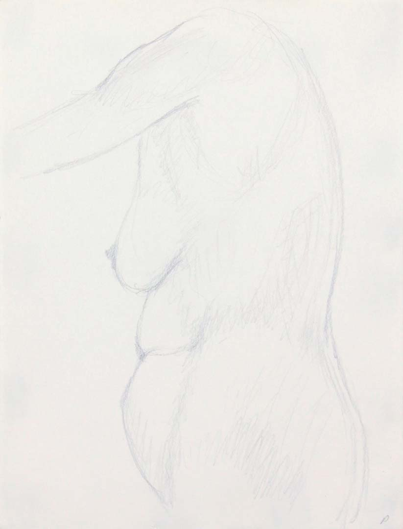"Standing Nude Pencil 12"" x 9"""