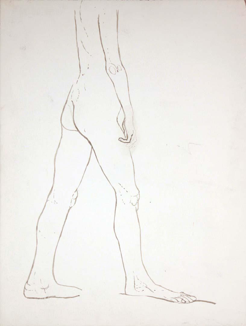 "Standing Nude Wash 27.25"" x 20.625"""